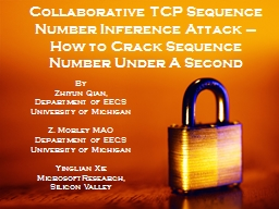 Collaborative TCP Sequence Number Inference Attack �