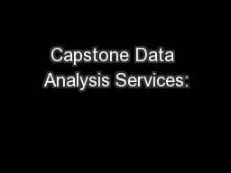 Capstone Data Analysis Services:
