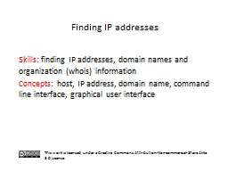 S kills :  finding IP addresses, domain names and organization (