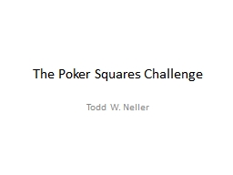 The Poker Squares Challenge
