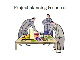 Project planning & control