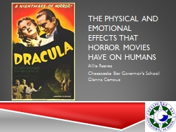 The Physical and Emotional Effects that Horror Movies have on Humans