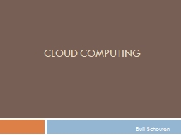 Cloud Computing Buil  Schouten