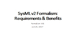 SysML   v2   Formalism: Requirements &