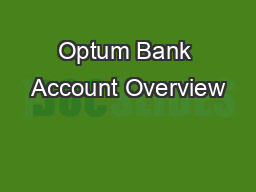 Optum Bank Account Overview