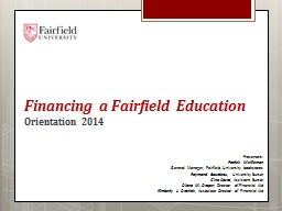 Financing a Fairfield Education