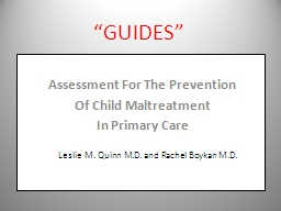 �GUIDES�   Assessment For The Prevention