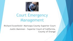 Court Emergency Management