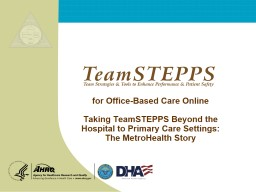 for Office-Based Care Online