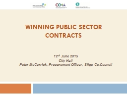Winning Public  Sector  Contracts