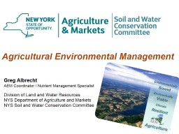 1 Agricultural Environmental Management