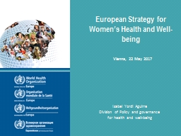 European Strategy for Women's Health and Well-being