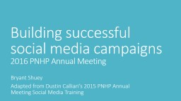 Building successful social media campaigns