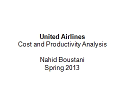 United Airlines Cost and Productivity Analysis