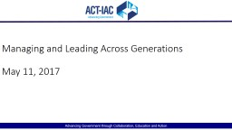Managing and Leading Across Generations