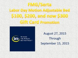 FMG/Serta  Labor Day Motion