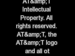 � 2015 AT&T Intellectual Property. All rights reserved. AT&T, the AT&T logo and all ot