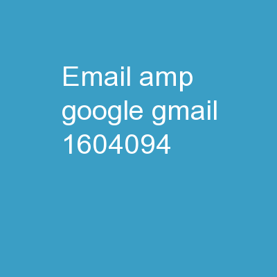 Email &  Google  Gmail