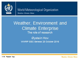 Weather, Environment and Climate Enterprise