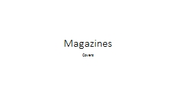 Magazines Covers Questions to start your