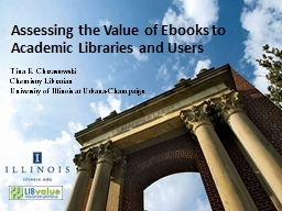Assessing the Value of Ebooks to