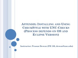 Appendix: Installing and Using