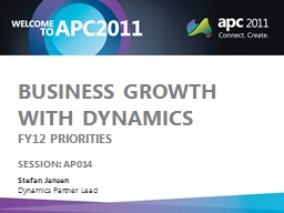 Business growth with dynamics