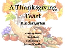 A Thanksgiving Feast Kindergarten