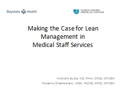 Making the Case for Lean Management in