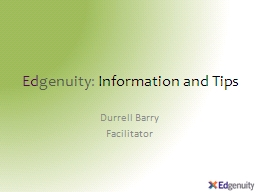 Ed genuity :  Information and Tips