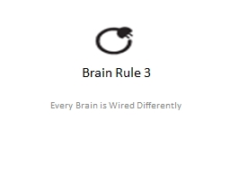 Brain Rule 3 Every Brain is Wired Differently
