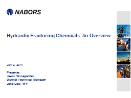 Hydraulic Fracturing Chemicals: An Overview