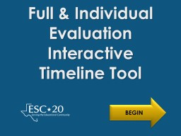 Full & Individual Evaluation PowerPoint PPT Presentation