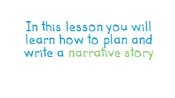 In this lesson you will learn how to plan and write
