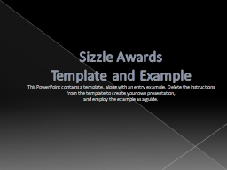 Sizzle Awards Template and Example