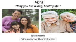 Aging Sylvia  Rozario Epidemiology of Chronic Diseases