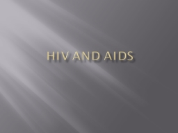 HIV and Aids Definitions