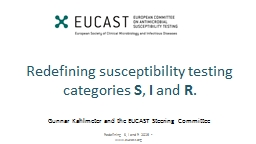 Redefining susceptibility testing categories