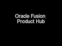 Oracle Fusion Product Hub