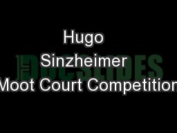 Hugo  Sinzheimer  Moot Court Competition