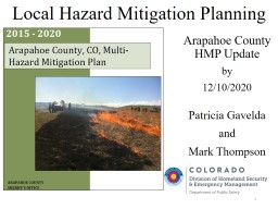 Local Hazard Mitigation Planning