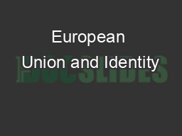 European Union and Identity