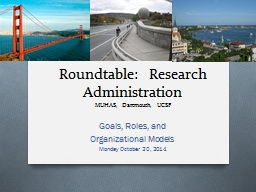 Roundtable:  Research Administration