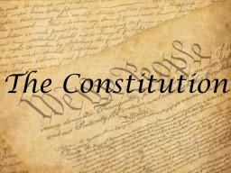 The Constitution Making the Constitution