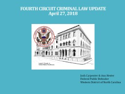 FOURTH CIRCUIT CRIMINAL