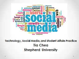 Technology, Social Media, and Student Affairs Practice PowerPoint Presentation, PPT - DocSlides