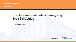 The fundamentals when managning type 2 diabetes