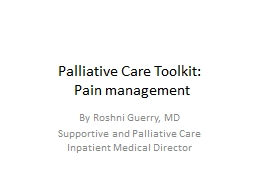 Palliative Care Toolkit: