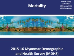 Mortality Follow along  on Twitter! PowerPoint PPT Presentation