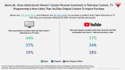 1 Above All, Given Multicultural Viewers� Greater Personal Investment In Television Content, TV P